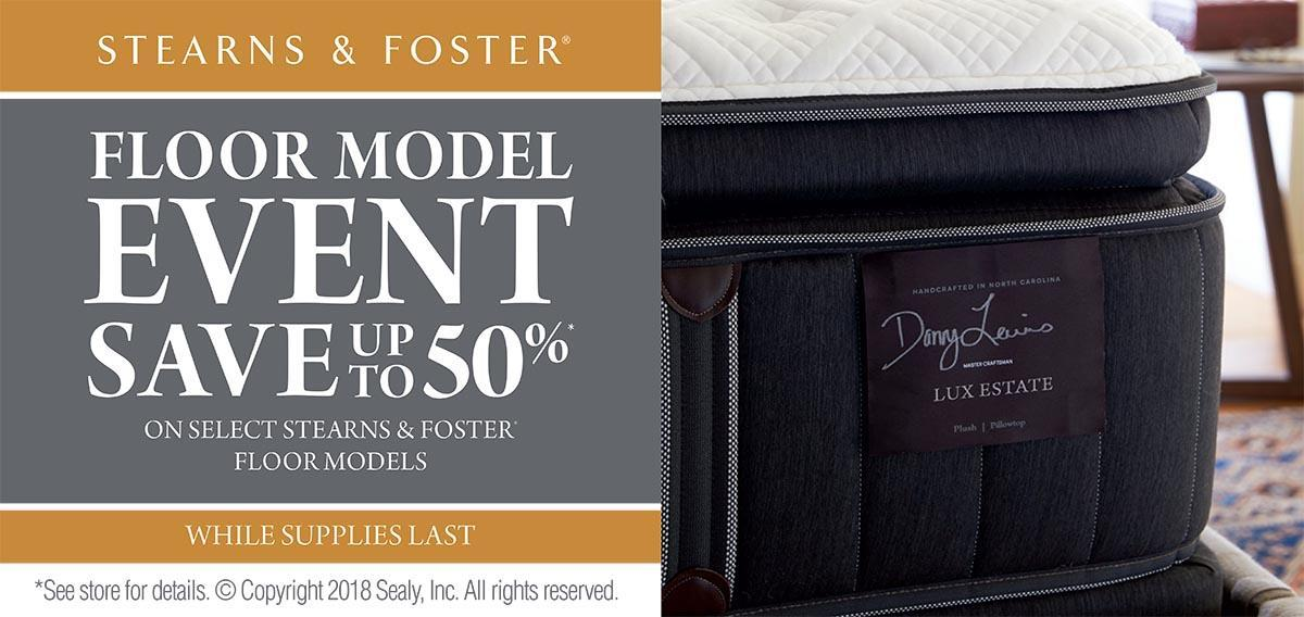 Sterns Foster Floor Model Sale Wholesale Mattress Center